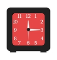 black and red clock graphic vector image