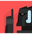Black Robot With Finger Up vector image