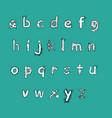 bold biology font vector image