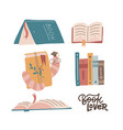 book lover collection set of various books vector image vector image