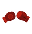 Boxing gloves flat icon vector image vector image