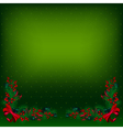 bright green christmas background decorated by fir vector image