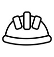 builder helmet protection icon vector image