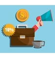 Business profit and sales vector image vector image