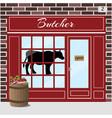 butcher shop meat store vector image vector image
