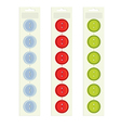 buttons on packaging vector image vector image