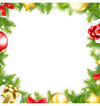 Christmas Background With Ribbon And Xmas Ball vector image