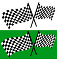 crossed waving checkered racing flags editable vector image vector image