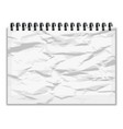 crumpled piece of paper notebook with shadow vector image vector image