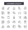 customer loyality line icons signs set vector image vector image