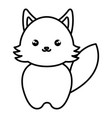 cute and tender fox kawaii style vector image