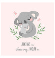 cute koala mom and baby vector image vector image