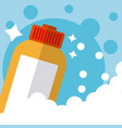 detergent in bottle cleaning product vector image