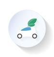 Environmentally friendly car flat icon vector image vector image