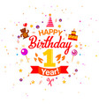 first birthday greetings card vector image vector image