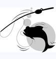 Fish hunting vector image