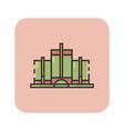 flat color detroit landmark icon vector image vector image