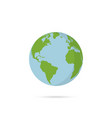 flat planet earth icon for web banner web and vector image