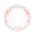 floral round frame with jasmine and sakura vector image vector image