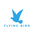 flying bird logo design inspiration vector image vector image