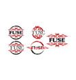 fuse logo template set vector image