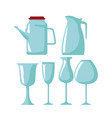 glass cups icons vector image vector image