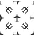 grey plane icon isolated seamless pattern on white vector image
