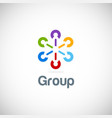 group connection colorful logo vector image vector image