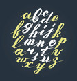 hand written lettering alphabet brushed vector image vector image