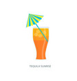handmade cocktail with inscription vector image vector image