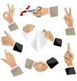 Hands set isolated eps10 vector image