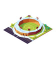 isometric cricket stadium with grass field vector image vector image