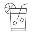 lemonade thin line icon beverage and drink juice vector image vector image