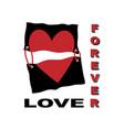 love slogan print t-shirt graphics vector image