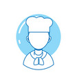 man chef professional person line fill vector image