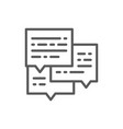 message business conversation email line icon vector image
