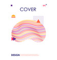 modern cover design template geometric abstract vector image vector image