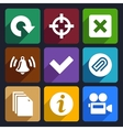 Multimedia flat icons set 5 vector image