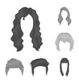 mustache and beard hairstyles monochrome icons in vector image vector image
