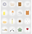 objects for food flat icons 17 vector image