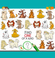 one of a kind game with dogs vector image vector image