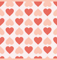 pastel hearts seamless pattern cute valentines day vector image
