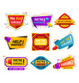 recruiting agency stickers flat vector image