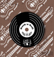 rock n roll vinyl and skull vector image vector image
