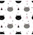seamless cats pattern vector image