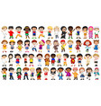 set international kids character vector image vector image