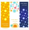 Set of 3 abstract shiny banners vector image
