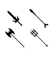 set of weapon icon label of fantasy and medieval vector image vector image