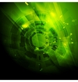 Shiny green engineering tech background vector image vector image