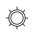 ship helm icon rudder sign vector image vector image
